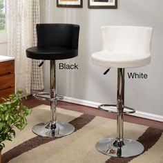 Height-adjustable Chrome and Leatherette Swivel Bar Stool - Overstock™ Shopping - Great Deals on K and B Furniture Co Inc Bar Stools