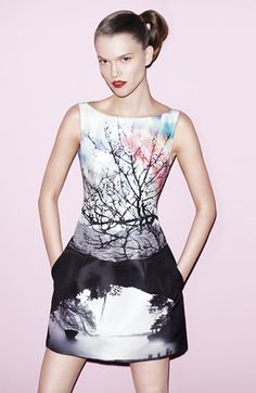 Love this!  Mary Katrantzou Dress & Accessories  available at #Nordstrom