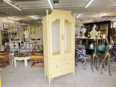 Vintage Faux Bamboo Cabinet