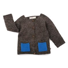SQUARE POCKETS CARDI Simple, yet with plenty of geometric style, this cardigan is perfect for layering all winter long. #oeufnyc #oeufbegood #Imaginarium #sweater #alpaca #fairtrade #fallwinter #kids #baby #clothes #cardi