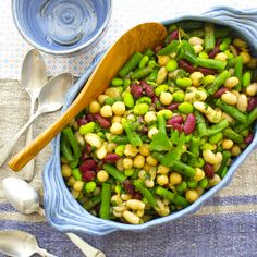 Five Bean Salad with Curry Summertime Side Dish ideas from Healthy Seasonal Recipes.