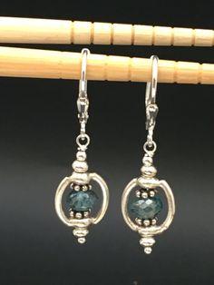 Aquamarine Earrings Blue Gemstone Earrings by AngelWearDesigns2013