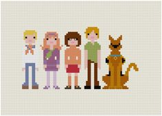 Scooby Doo characters cross stitch pattern. Free ($0).