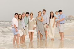 Really like these colors for multi family session - Orange Beach Family Portrait at Turquoise Place
