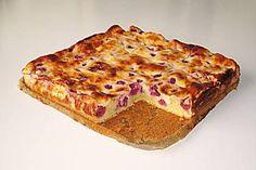 Saftiger Kirsch - Schmand - Kuchen Quiche, Banana Bread, Sweet Treats, Cheesecake, Pie, Fruit, Breakfast, Ethnic Recipes, Desserts