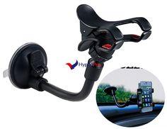 Support rotation 360° avec ventouse pour téléphone mobile / GPS (Noir)