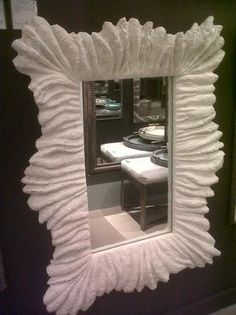 Large Undulating Faux Coral Mirror - Mecox Gardens