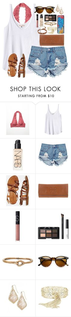"""Good vibes only✌️"" by lauren-hailey ❤ liked on Polyvore featuring Free People, Rebecca Taylor, NARS Cosmetics, Boohoo, American Eagle Outfitters, Tory Burch, Acne Studios, Kendra Scott and Chan Luu"