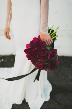 Red peony bouquet | Wedding & Party Ideas | 100 Layer Cake
