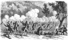 The Mountain Meadows massacre was a series of attacks on the Baker–Fancher wagon train in Utah. The attacks culminated on September 11, 1857, with the mass slaughter of most in the party by members of the Mormon Utah Territorial Militia. Intending to leave no witnesses, the perpetrators killed about 120 men, women, and children. 17 children, all younger than seven, were spared and distributed among local Mormon families.