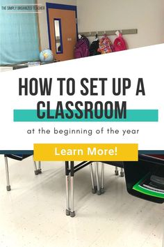 Set up an organized classroom that will last all year long with these tips for elementary teachers. Classroom Routines, Classroom Behavior, Classroom Environment, Classroom Setup, Organized Teacher, Teacher Planner, Teacher Organization, Organization Hacks, Back To School Activities