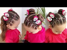 Penteado Infantil de redinha c ني بحبك كوي om ligas e Maria Chiquinha ou Coques Mixed Kids Hairstyles, Easy Toddler Hairstyles, Girls Natural Hairstyles, Baby Girl Hairstyles, Trendy Hairstyles, Hairstyles Haircuts, Straight Hairstyles, Hair Styles 2016, Medium Hair Styles