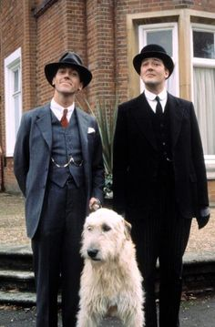 Jeeves & Wooster era Fry and Laurie. bonus points: Irish wolfhound.