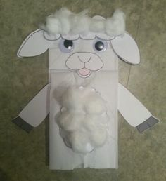 Sheep Puppet - Paper Bag Bible School Crafts, Sunday School Crafts, Bible Crafts, Preschool Crafts, Easter Crafts, Animal Crafts For Kids, Diy Crafts For Kids, Craft Ideas, Decor Ideas