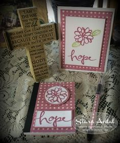 SiaraSweetSensations.com    Stampin Up; Watercolor Wishes stamp set