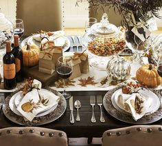 gorgeous Thanksgiving table.......... I want those chairs!