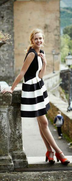monochrome, bridesmaid dresses, dress fashion, black white, white stripe, allaboutstrip blackwhit, heels, dress styles, dress shoes