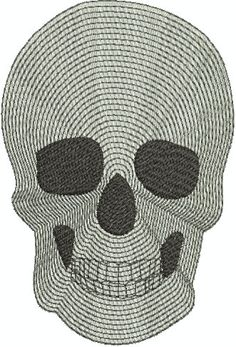 Digital Embroidery Design  Skull by EmbroideryDesignsBRN on Etsy