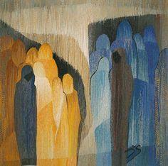 Conversation. 1992. Wool, cotton. 130 x 130 cm. Daiga Stalberga