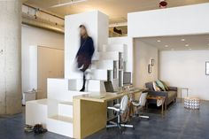 CHA:COL creates a live-work space with hacked IKEA products – Home Office Design On A Budget Industrial Home Offices, Industrial Apartment, Industrial Interiors, Industrial House, Industrial Closet, Modern Interiors, Industrial Style, Industrial Restaurant, Industrial Bedroom