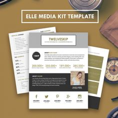 OnePage Media Kit Template Press Kit Template By Bloggerkitco