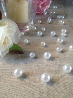 Vintage Table Pearl Ters White Pearls For Wedding Parties Special Events Decor Confetti