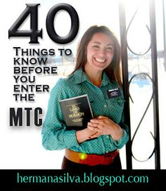 Sister Emily Silva: Tips to know before entering the MTC great list