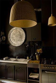 Black Kitchen - light shades