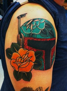 Love this Day of the Dead style Boba Fett Tat^Jitin