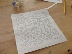 How to make a repeat pattern/stencil.  GREAT post.