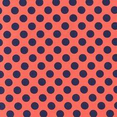 Michael Miller House Designer - Dots - Ta Dot in Poppy
