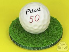 Custom cakes made in Cheshunt Golf Ball Cake, 50th Cake, Custom Cakes, How To Make Cake, Personalized Cakes, Personalised Cake Toppers