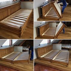 village style, folding double bed – diy home decor wood Diy Pallet Furniture, Furniture Projects, Home Furniture, Furniture Design, Furniture Village, Pallet Projects, Furniture Outlet, Pallet Ideas, Discount Furniture