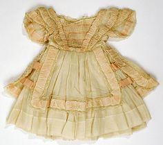 Child's cotton dress, probably American, circa 1859