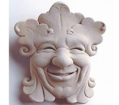 This jolly fellow is one of our smaller botanical face plaques. Liven up that tiny garden area that has always seemed to lack character. He also makes a friendly companion for the kitchen. You just can't go wrong with a face like his.