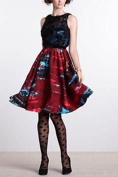 Splash of colour  Coquette Matelasse Dress #anthropologie