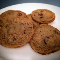 Chocolate Chip Cookies made with @ottosnaturals Cassava Flour. Ingredients: 1-1/4 C @ottosnaturals cassava flour, 1-1/4 C sugar, 3/4 C palm shortening, 2 T water or milk, 1 T molasses, 1 T vanilla ext (Two Ingredients Cookies)