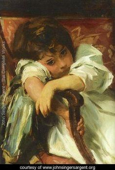 Portrait of a Child - John Singer Sargent - www.johnsingersargent.org