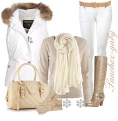 """""""Furry in White"""" by sanchez-gaby on Polyvore"""