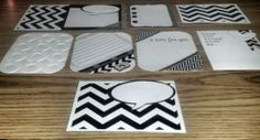 Handmade Cards For Project Life Black and White