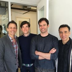 """Bill Hader, Fred Armisen, Seth Meyers, and John Mulaney at the """"Documentary Now! My People, Funny People, Documentary Now, Bo Burnham, Fred Armisen, Bill Hader, Seth Meyers, John Mulaney, Funny Boy"""