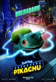 Watch the cast of Detective Pikachu the movie. Bulbasaur and Charizard look incredible! Pokemon Go, Detective, Cute Pokemon Wallpaper, Pokemon Trading Card, Bulbasaur, Pokemon Pictures, Sale Poster, Charizard, Movie Characters