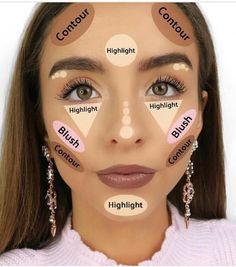 How to Contour & Highlight 👑 {The highlight part is using a concealer, not an actual highlighter} Contouring the makeup technique that is on fire now Makeup - Diy Make-up Makeup Source by jasinskiteresa Makeup Contouring, Contouring And Highlighting, Eyebrow Makeup, Skin Makeup, Eyeshadow Makeup, Makeup Brushes, Blue Makeup, Easy Contouring, Glitter Makeup