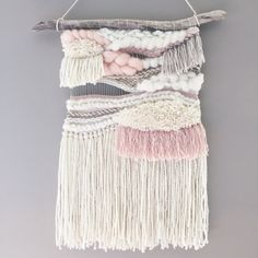 Woven wall hanging // MADE TO ORDER / Wall door ScarlettWrenWeavings