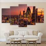 London Canvas ART, London Wall Art, London City View Large Canvas Print, London Canvas Painting, London Framed Canvas
