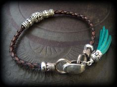 Chocolate Bolo Leather Charm Magnetic Wrap Bracelet by YuccaBloom