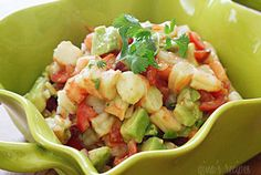 Zesty Lime Shrimp and Avocado Salad — Recipe from Skinny Taste.  Lunch!?!?!?!!!!