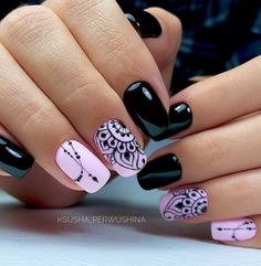 nail designs hansen chrome nail makeup nail art nailart nail art designs inc nail makeup inc nail makeup inc nail makeup harley gardens makeup design Dark Color Nails, Dark Nails, Nail Colors, Dark Nail Art, New Nail Art Design, Cool Nail Designs, Salon Design, Cute Nails, Pretty Nails