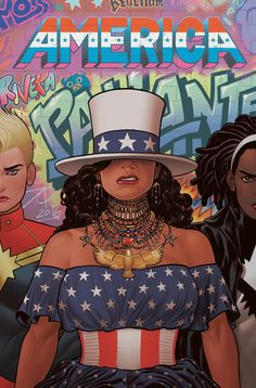 Beyonce on the cover of Marvel's New America Comic Book (2017)