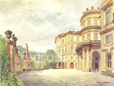 Obraz Lobkovický palác pod Petřínem Prague, Palace, Painting, Art, Pictures, Art Background, Painting Art, Kunst, Palaces